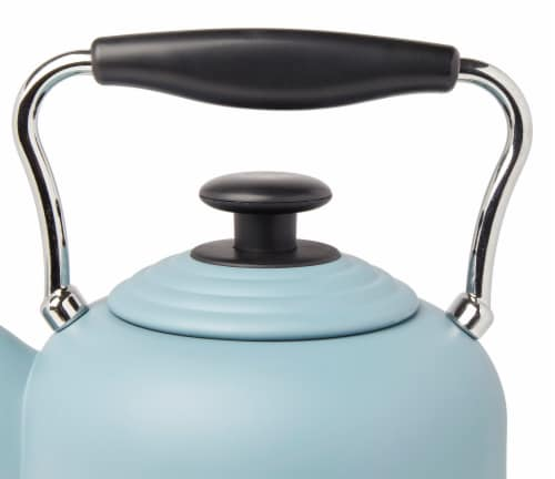 Haden Highclere Stainless Steel Cordless Electric Kettle - Poole Blue Perspective: back