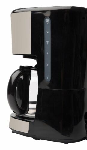 Haden Dorset Modern Programmable Coffee Maker - Putty Perspective: back