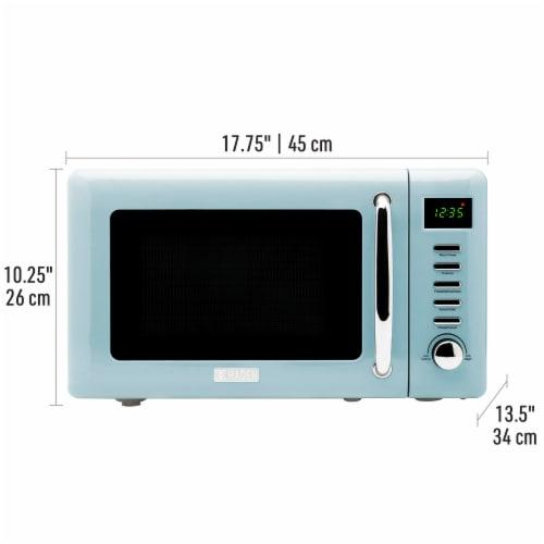 Haden Heritage 700-Watt Microwave - Turquoise Perspective: back