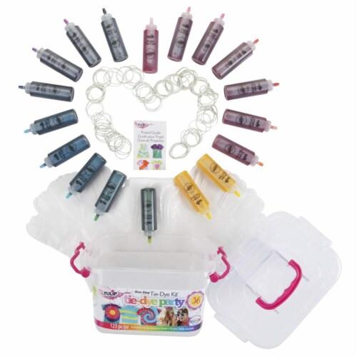 Tulip One Step Tie Dye Kit 18 Assorted Colors Perspective: back