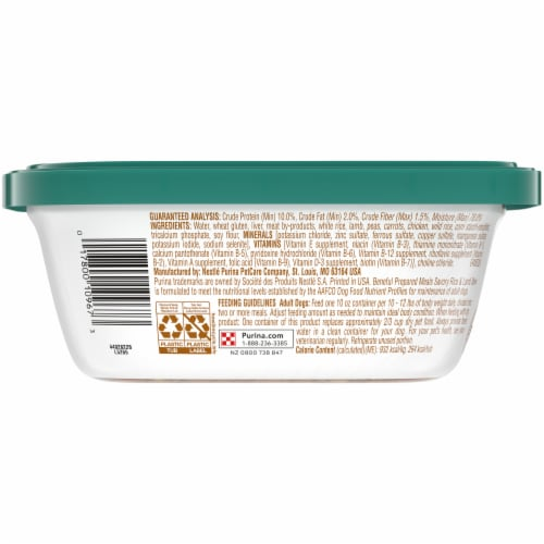 Beneful Prepared Meals Savory Rice & Lamb Stew Adult Wet Dog Food Perspective: back