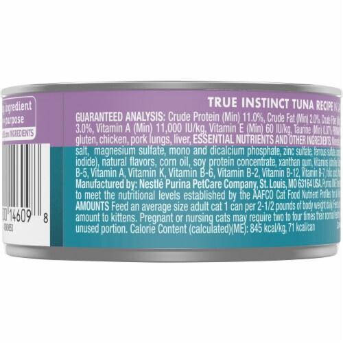 Purina ONE Natural True Instinct Protein Rich Tuna Recipe Wet Cat Food Perspective: back