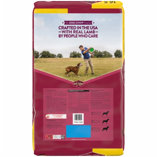 Dog Chow Tender & Crunchy with Real Lamb Adult Dry Dog Food Perspective: back