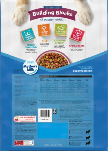 Puppy Chow® Healthy Start Nutrition Tender & Crunchy with Real Beef & Rice Dry Puppy Food Perspective: back