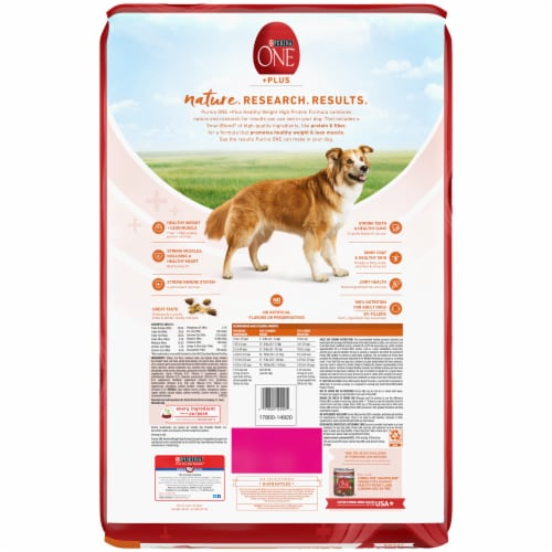 Purina ONE SmartBlend Healthy Weight Formula Turkey Natural Dry Adult Dog Food Perspective: back