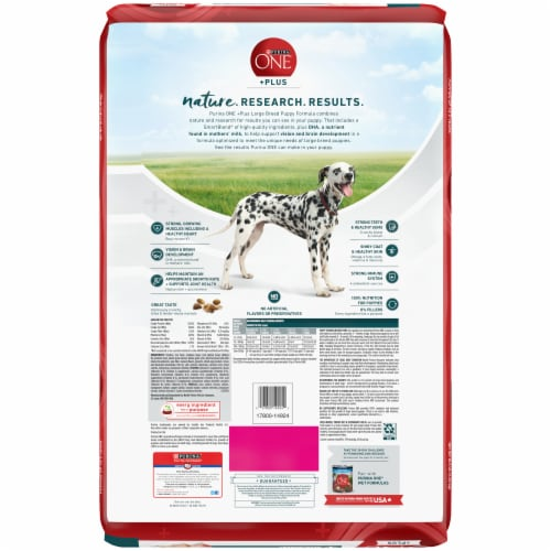 Purina ONE SmartBlend Large Breed Puppy Formula Dry Dog Food Perspective: back