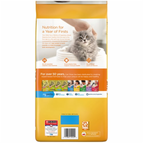 Purina Kitten Chow Nurture Dry Kitten Food Perspective: back