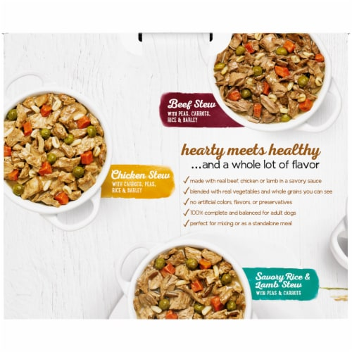 Beneful Prepared Meals Wet Dog Food Variety Pack 6 Count Perspective: back