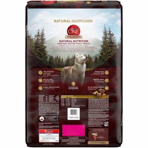Purina ONE SmartBlend True Instinct Turkey & Venison Natural Dry Dog Food Perspective: back