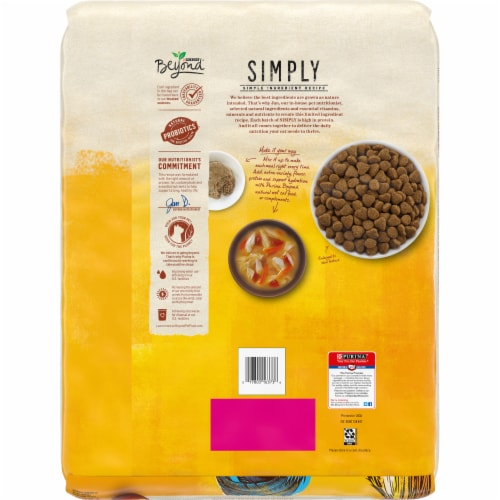 Beyond Simply White Meat Chicken & Whole Oat Meal Recipe Adult Dry Cat Food Perspective: back