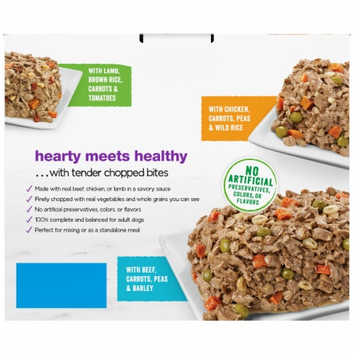 Beneful Chopped Blends Wet Dog Food Variety Pack Perspective: back