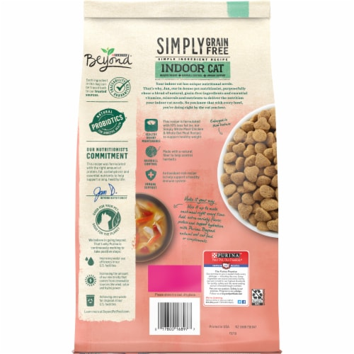 Beyond Simpy Grain Free Salmon Egg & Sweet Potato Recipe Indoor Dry Cat Food Perspective: back
