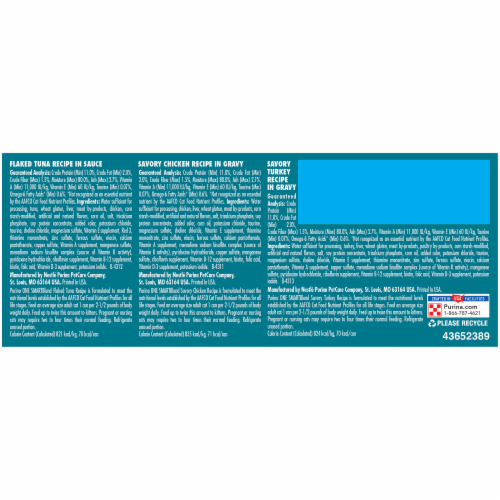Purina ONE True Instinct Protein-Rich Wet Cat Food Variety Pack Perspective: back