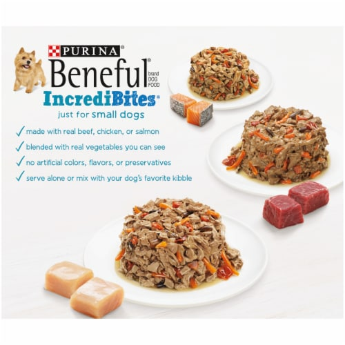 Beneful IncrediBites Small Breed Wet Dog Food Variety Pack Perspective: back