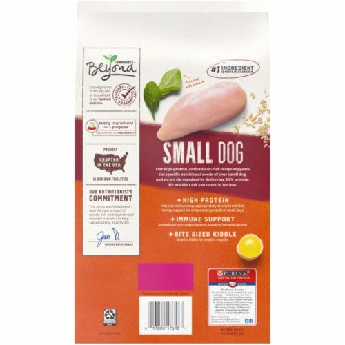 Beyond® White Meat Chicken Barley & Egg Recipe Natural Dry Small Dog Food Perspective: back