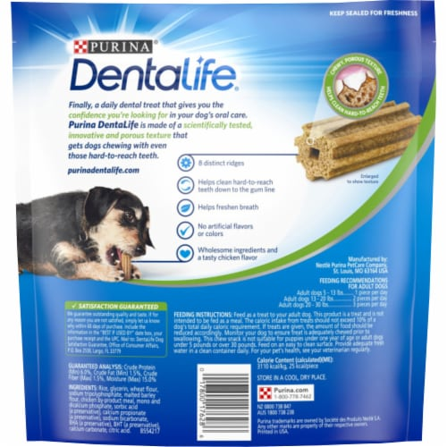 DentaLife Mini Daily Oral Care Dog Treats Perspective: back