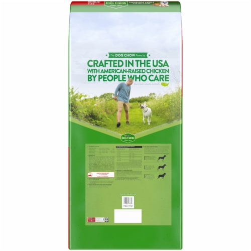 Dog Chow Complete with Real Chicken Adult Dry Dog Food Perspective: back