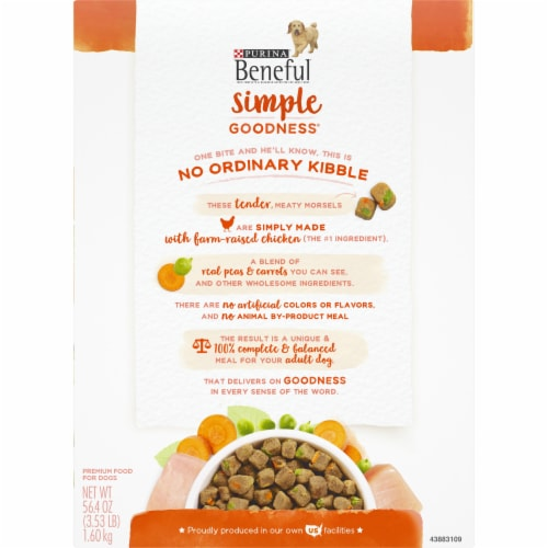 Beneful Simple Goodness with Farm Raised Chicken Adult Dry Dog Food Perspective: back