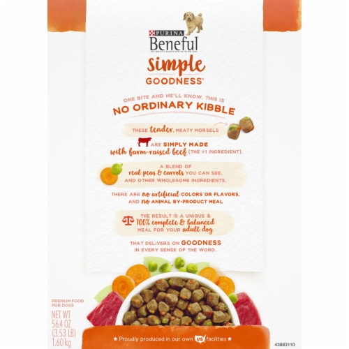Purina Beneful Simple Goodness with Farm Raised Beef Adult Dry Dog Food Perspective: back
