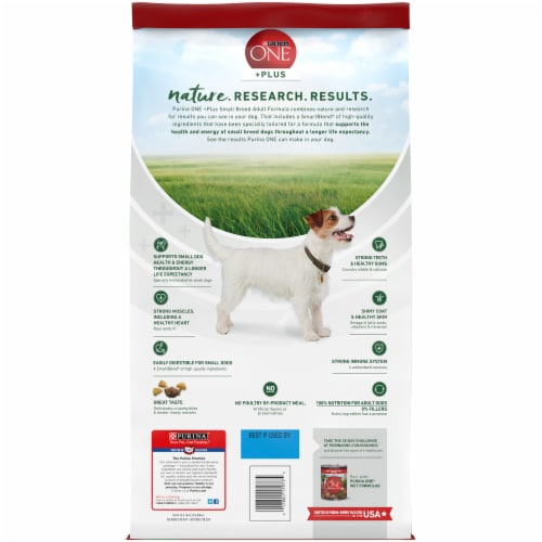 Purina One SmartBlend Lamb & Rice Formula Small Breed Adult Dry Dog Food Perspective: back