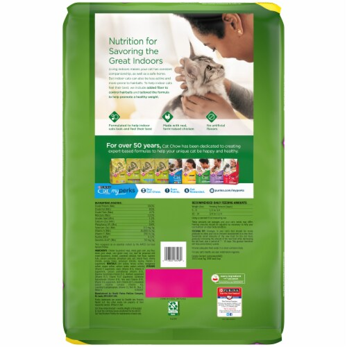 Purina® Cat Chow® Indoor Adult Dry Cat Food Perspective: back
