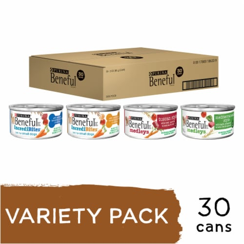 Purina Beneful Variety Pack Wet Dog Food Perspective: back