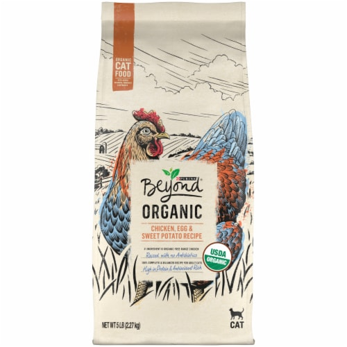 Beyond Organic Chicken Egg & Sweet Potato Dry Cat Food Perspective: back