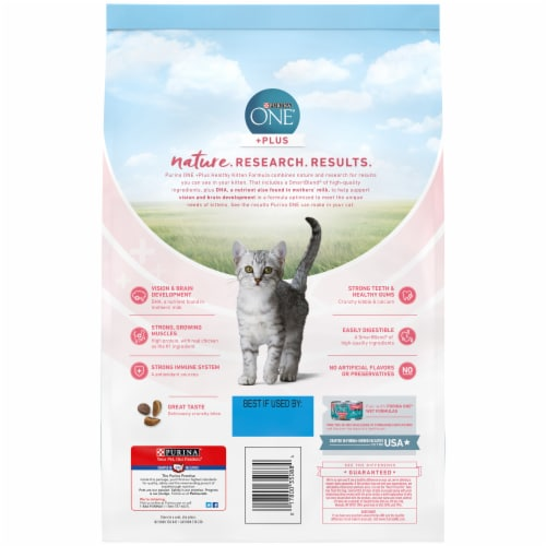 Purina ONE Healthy Kitten Formula Natural Dry Kitten Food Perspective: back