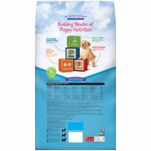 Puppy Chow® Healthy Start Nutrition Complete with Real Chicken & Rice Dry Dog Food Perspective: back