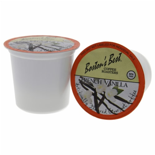 French Vanilla Gourmet Coffee by Bostons Best for Unisex - 80 Cups Coffee Perspective: back