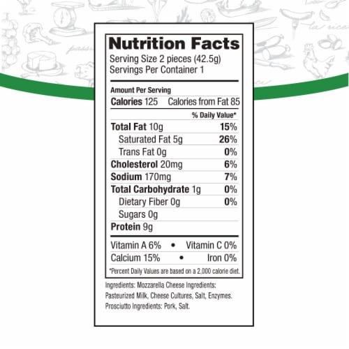 Fiorucci Panino Prosciutto Wrapped Mozzarella Cheese Perspective: back