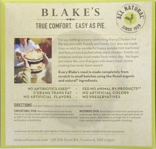 Blake's All Natural Chicken Pot Pie Perspective: back