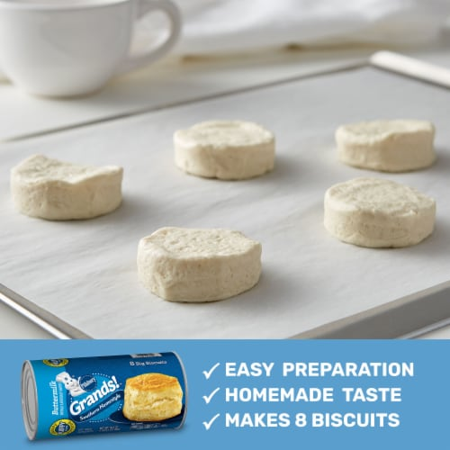 Pillsbury Grands Southern Homestyle Buttermilk Biscuits 8 Count Perspective: back