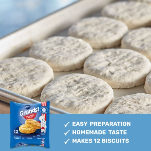 Pillsbury Grands! Frozen Buttermilk Biscuits Perspective: back