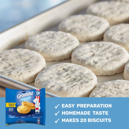 Pillsbury Grands! Frozen Southern Style Biscuits Perspective: back