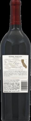 Edna Valley Vineyard Cabernet Sauvignon Red Wine Perspective: back