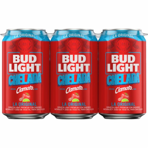 Bud Light & Clamato Chelada Flavored Lager Beer Perspective: back