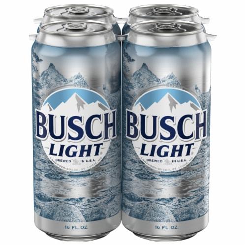 Busch Light Lager Beer Perspective: back