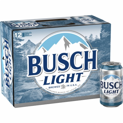 Busch Light Lager Beer Perspective: back