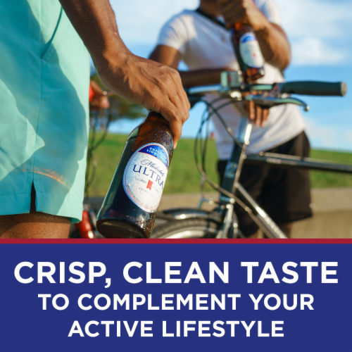 Michelob Ultra Superior Light Beer Perspective: back