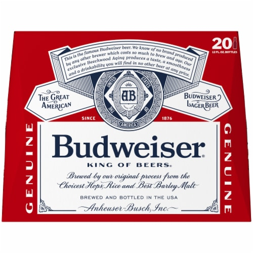 Budweiser Lager Beer Perspective: back