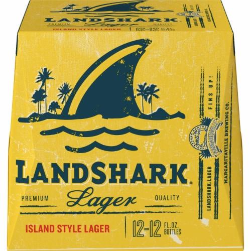LandShark Lager Beer Perspective: back