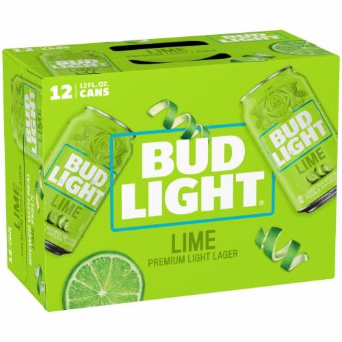 Bud Light Lime Lager Beer Perspective: back