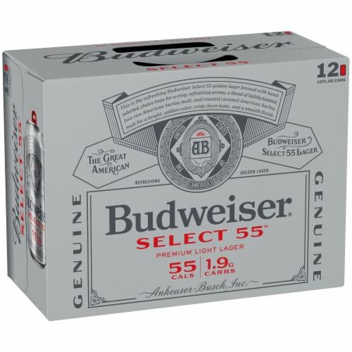 Budweiser® Select 55™ Light Lager Beer Perspective: back