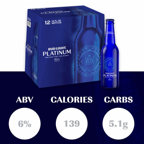 Bud Light Platinum Lager Beer Perspective: back