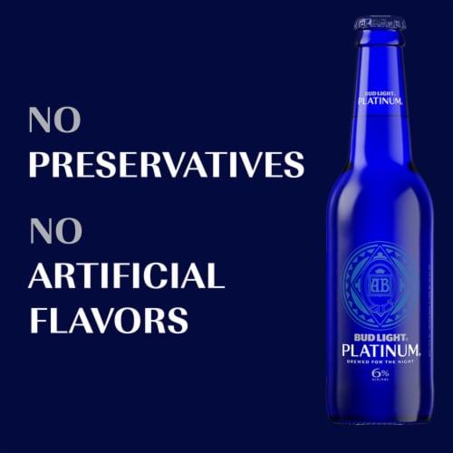 Bud Light Platinum Lager Beer Perspective: back