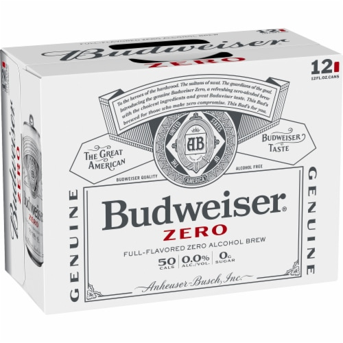 Budweiser® Zero Full-Flavored Zero Alcohol Brew Beer Perspective: back