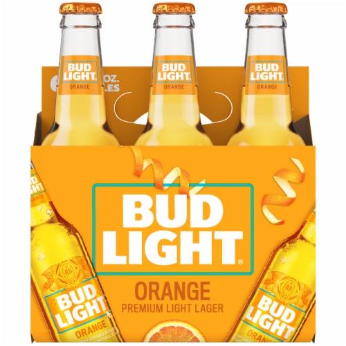 Bud Light Orange Beer Perspective: back