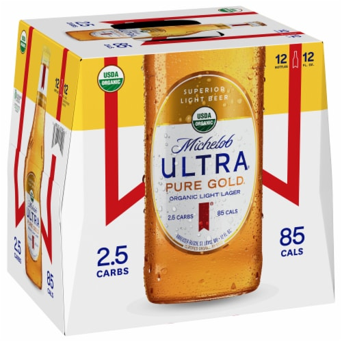 Michelob Ultra Pure Gold Organic Lager Beer Perspective: back