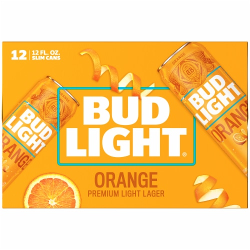Bud Light Orange Lager Beer Perspective: back